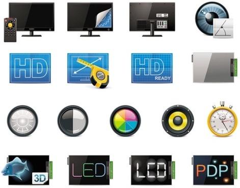 technology icon 04 vector