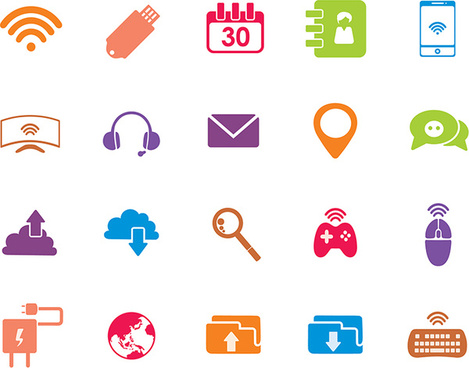 Technology icons vector | free download.