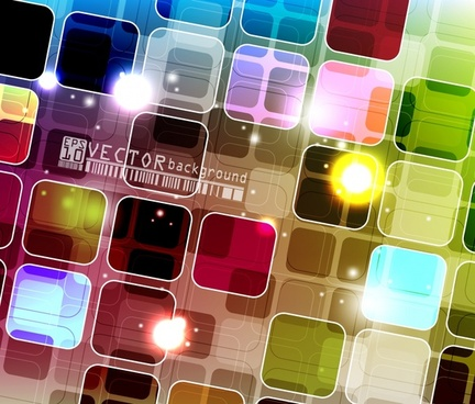 technology vector background colorful box