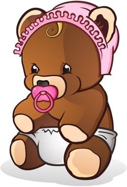 Teddy bear 04 vector