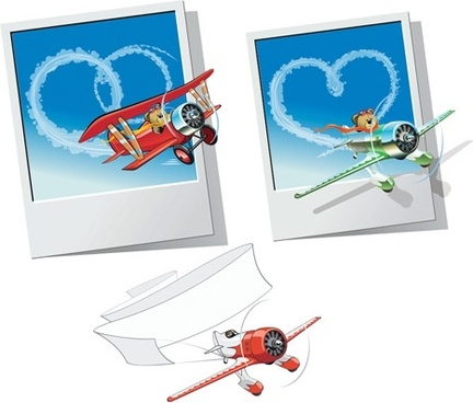 teddy bear clip art aircraft