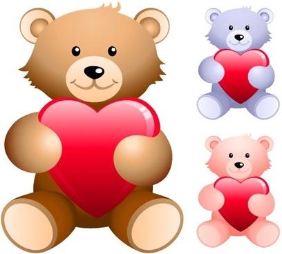 teddy bear holding a heartshaped vector
