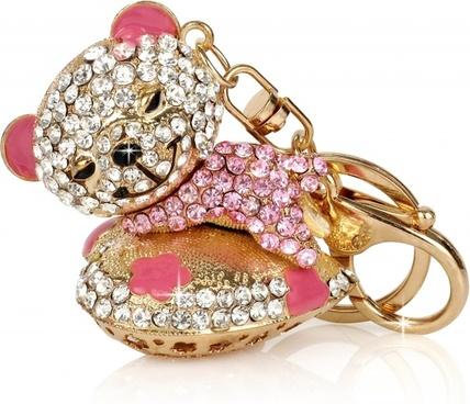 teddy bear key ring keychain