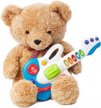 teddy bear with a guitar