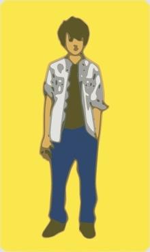 Teenager Boy clip art
