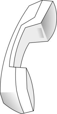 Telephone Handle clip art