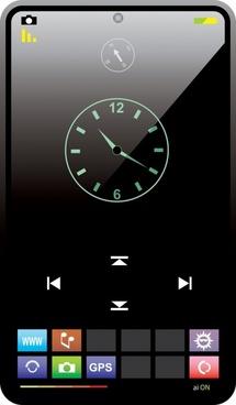 smartphone interface template shiny modern design
