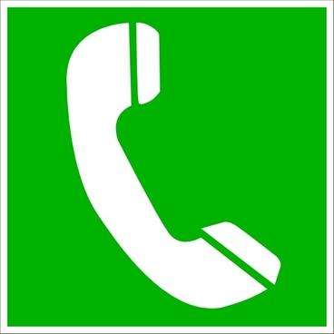 Telephone Sauvetage clip art