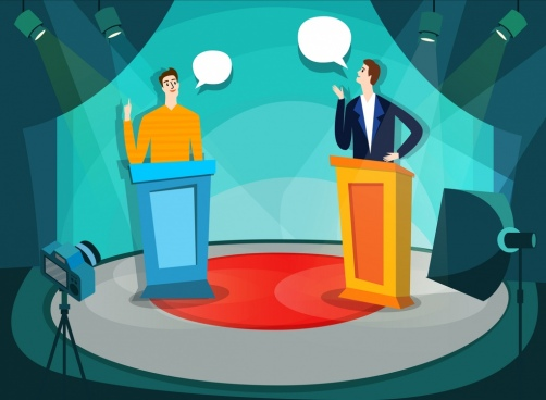 television program background speech bubble broadcaster icons