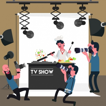 television show background cooking theme cartoon design