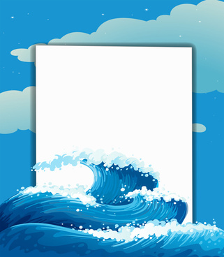 tempestuous sea waves backgrounds vector