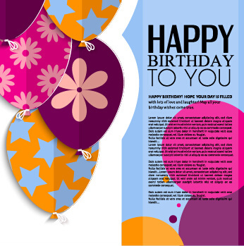 Free Adobe Illustrator Template Birthday Invitation Vector