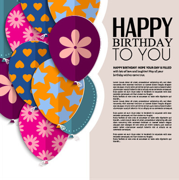 Birthday greeting card vector free vector download 13730 free template birthday greeting card vector m4hsunfo