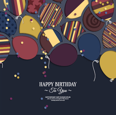 template birthday greeting card vector