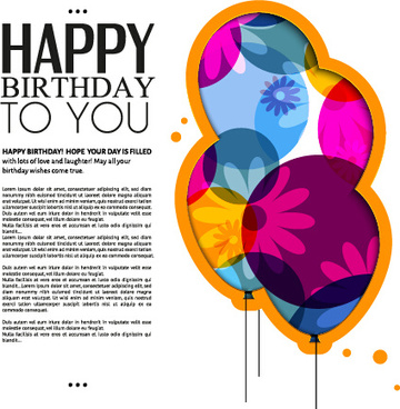 Birthday Greeting Card Designs Free Vector Download 13662 Free