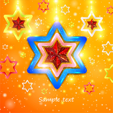 template illustration with abstract shiny twinkle stars