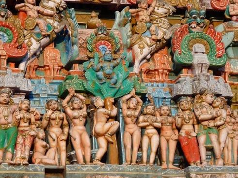 temple figures temple colorful