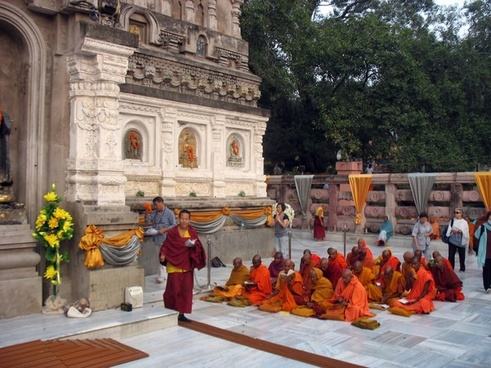 temple monks buddhist