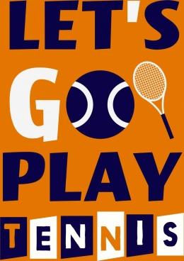 tennis advertising banner texts decoration flat design