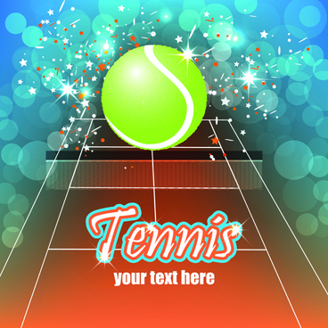 tennis creative poster vector