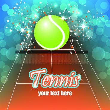tennis creative poster vector
