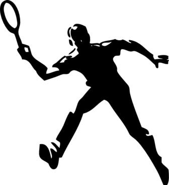 Tennis Player clip art