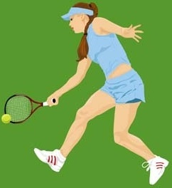 tennis sport vector 5