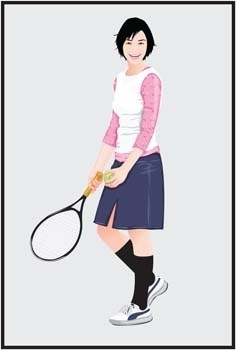 tennis sport vector 7