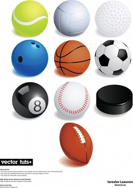 tennis volleyball golf bowling vector