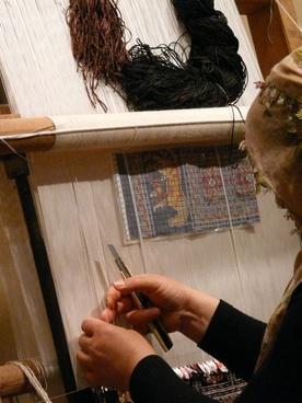 teppichknuepferin hand labor carpet