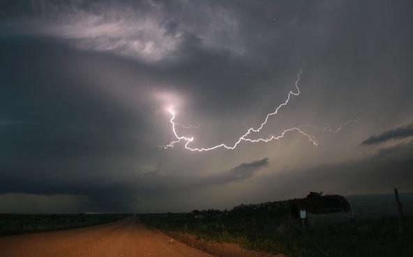 texas lightning sky