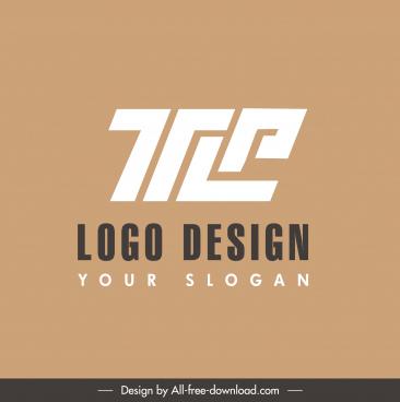 text logo template flat geometric shapes sketch