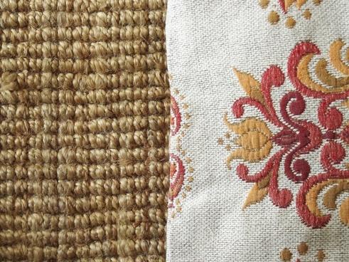 texture carpet pillow