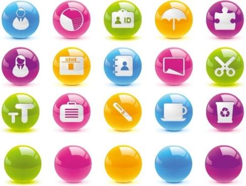 texture of the crystal ball button icon vector