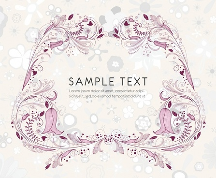 card background template symmetric classical nature elements