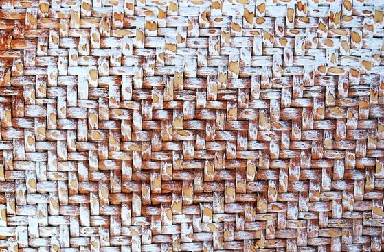 texture raffia trunk