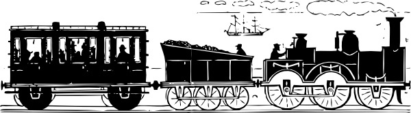 Th Century Train clip art