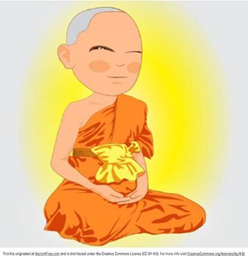 thai monk vector