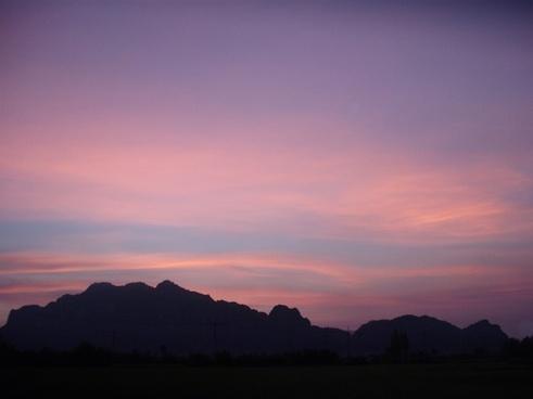 thailand sky sunset