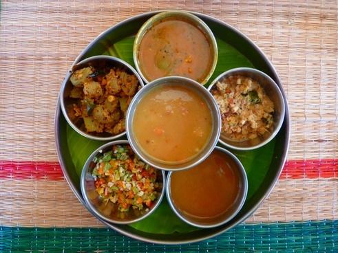 thali indian cuisine eat