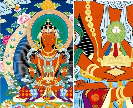 thangka off equ venerable vector for the purpose of profit do not reprint