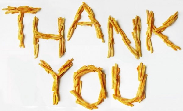 thank you french fries