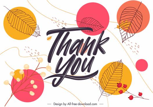 thankful background template flat handdrawn leaf botany decor