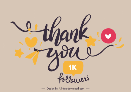 thankful banner template calligraphic words decor