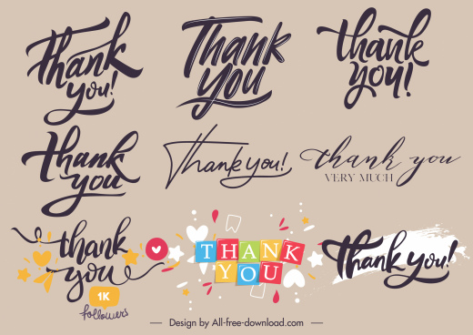 thankful sign templates calligraphic sketch