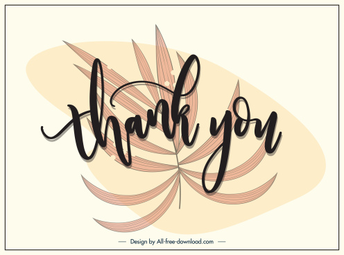 thanks giving background handdrawn leaf calligraphy decor