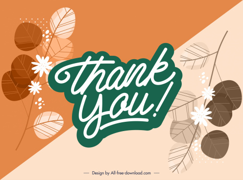 thanks giving banner template classic plants calligraphic sketch