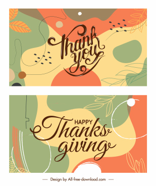 thanks giving card backgrounds elegant classical handdrawn leaves