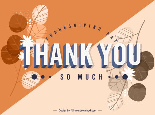 thanks giving card template elegant botany leaf decor