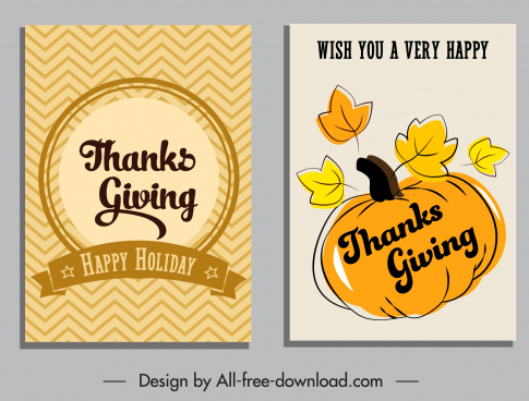 thanksgiving card templates simple retro ribbon pumpkin decor